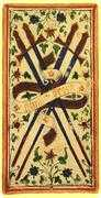 Four of Swords Tarot card in Visconti-Sforza Tarot deck