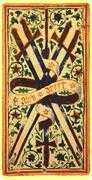 Five of Swords Tarot card in Visconti-Sforza Tarot deck