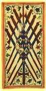 Nine of Swords Tarot card in Visconti-Sforza deck