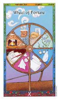 The Wheel of Fortune Tarot Card - Whimsical Tarot Deck