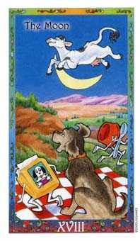 The Moon Tarot Card - Whimsical Tarot Deck