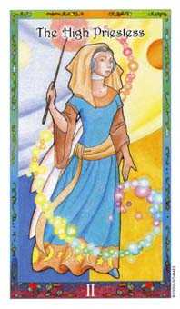 The High Priestess Tarot Card - Whimsical Tarot Deck