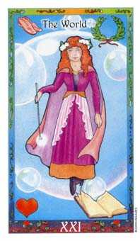 The World Tarot Card - Whimsical Tarot Deck