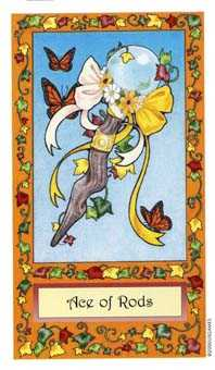 Ace of Rods Tarot Card - Whimsical Tarot Deck