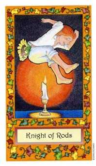 Brother of Fire Tarot Card - Whimsical Tarot Deck