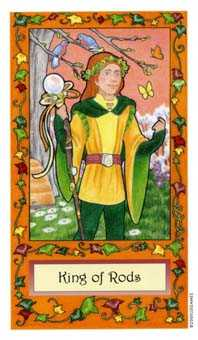 King of Batons Tarot Card - Whimsical Tarot Deck