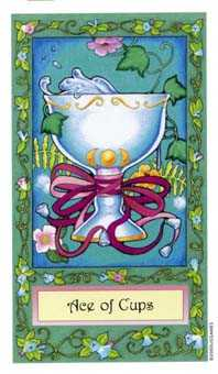 Ace of Ghosts Tarot Card - Whimsical Tarot Deck
