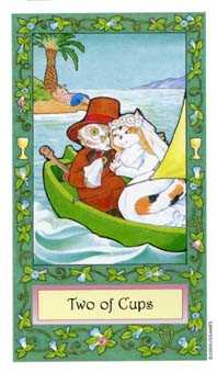 Two of Cups Tarot Card - Whimsical Tarot Deck
