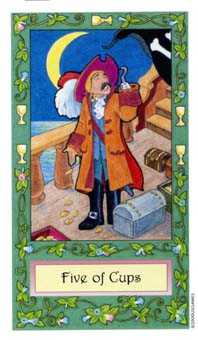 Five of Cups Tarot Card - Whimsical Tarot Deck