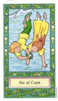 Six of Cups Tarot Card - Whimsical Tarot Deck
