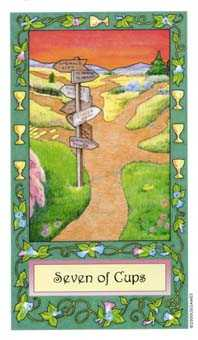 Seven of Cups Tarot Card - Whimsical Tarot Deck