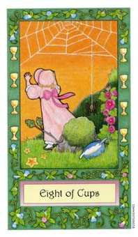 Eight of Ghosts Tarot Card - Whimsical Tarot Deck