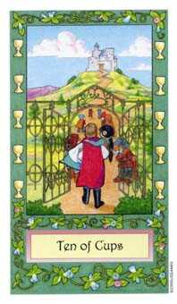 Ten of Hearts Tarot Card - Whimsical Tarot Deck