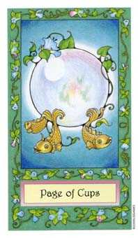 Page of Hearts Tarot Card - Whimsical Tarot Deck