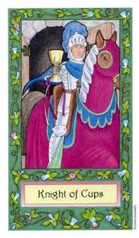 Cavalier of Cups Tarot Card - Whimsical Tarot Deck