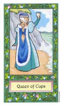 Queen of Hearts Tarot Card - Whimsical Tarot Deck