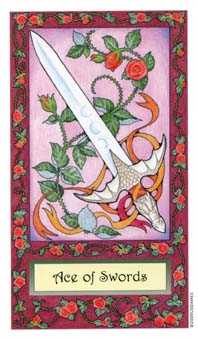 Ace of Wind Tarot Card - Whimsical Tarot Deck