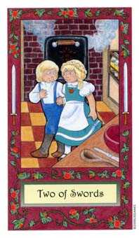 Two of Arrows Tarot Card - Whimsical Tarot Deck