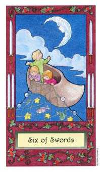 Six of Arrows Tarot Card - Whimsical Tarot Deck