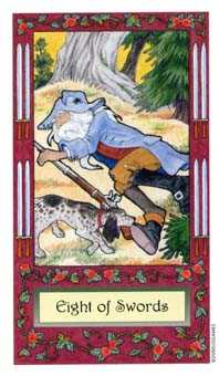 Eight of Wind Tarot Card - Whimsical Tarot Deck