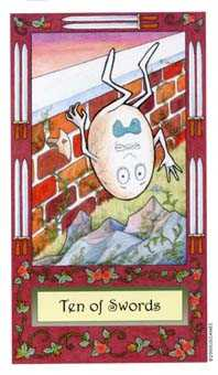 Ten of Arrows Tarot Card - Whimsical Tarot Deck