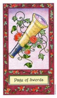 Page of Spades Tarot Card - Whimsical Tarot Deck