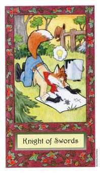 Cavalier of Swords Tarot Card - Whimsical Tarot Deck