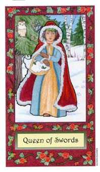 Queen of Swords Tarot Card - Whimsical Tarot Deck