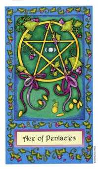 Ace of Pentacles Tarot Card - Whimsical Tarot Deck