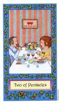 Two of Buffalo Tarot Card - Whimsical Tarot Deck