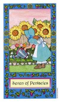 Seven of Pentacles Tarot Card - Whimsical Tarot Deck