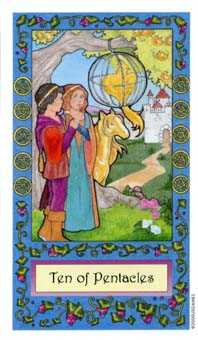 Ten of Pentacles Tarot Card - Whimsical Tarot Deck