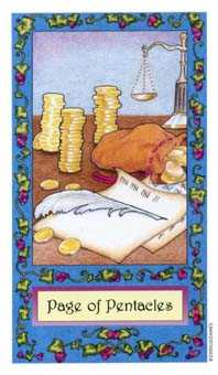 Page of Pumpkins Tarot Card - Whimsical Tarot Deck