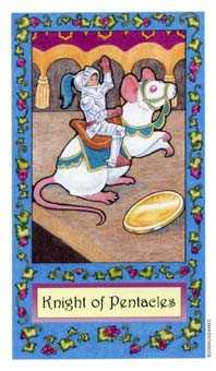 Knight of Coins Tarot Card - Whimsical Tarot Deck