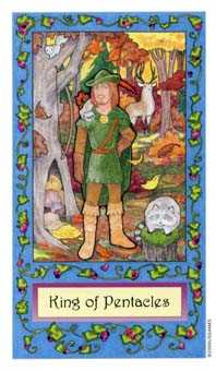 King of Discs Tarot Card - Whimsical Tarot Deck