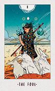 The Fool Tarot card in White Numen deck