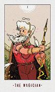 The Magician Tarot card in White Numen deck
