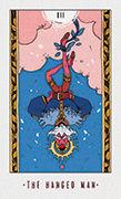 The Hanged Man Tarot card in White Numen deck