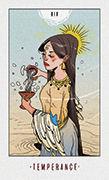 Temperance Tarot card in White Numen deck
