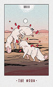 The Moon Tarot card in White Numen deck