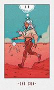 The Sun Tarot card in White Numen deck