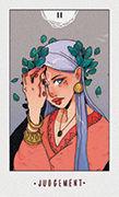 Judgement Tarot card in White Numen deck