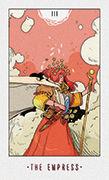 The Empress Tarot card in White Numen deck