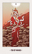 Ten of Wands Tarot card in White Numen deck