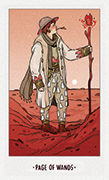 Page of Wands Tarot card in White Numen deck