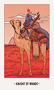 Knight of Wands Tarot card in White Numen deck