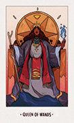 Queen of Wands Tarot card in White Numen deck