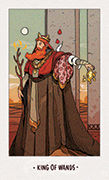King of Wands Tarot card in White Numen deck