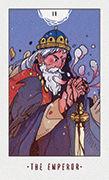 The Emperor Tarot card in White Numen deck