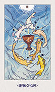 Seven of Cups Tarot card in White Numen deck